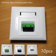 10 szt. Panel 86x86mm do adaptera Duplex SC lub adaptera Quad LC/biały/FTTH ODN