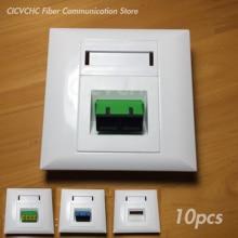 10pcs 86x86 millimetri Pannello per Duplex SC Adattatore o Quad LC Adattatore/Bianco/FTTH ODN