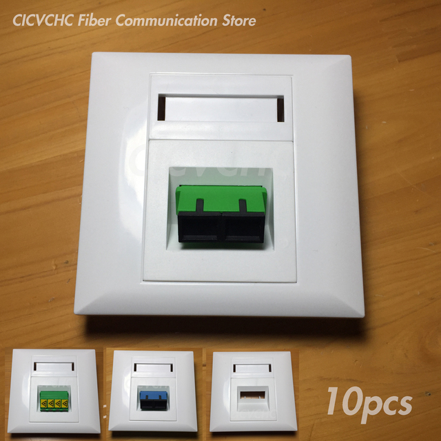Panneau de 10 pièces 86x86mm pour adaptateur SC Duplex ou adaptateur Quad LC/blanc/FTTH ODN