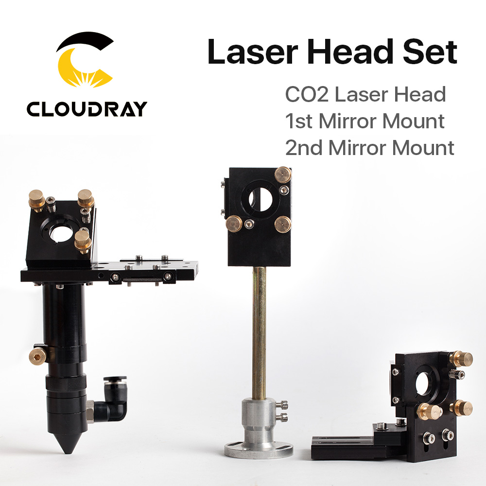 Cloudray HQ CO2 Láser Cabezal Lente de enfoque 20 mm Espejo reflectante 25 mm Montaje integrado Máquina de grabado y corte por láser