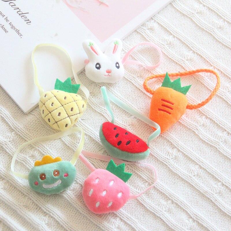 20cm Exo Star Doll Rabbit Dinosaur Radish Strawberry Watermelon Diagonal Bag Cute Little Bag Baby Doll Bag Doll Accessories