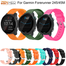 New Colorful Soft Silicone Replacement Strap for Garmin Vivoactive3 Vivomove HR Forerunner 645/245/245M Smart Watch Wristbands new replacement cradle charging desktop dock power charger for garmin forerunner 645 235 230 630 64 vivomove hr s20 smart watch