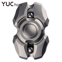 Stainless Steel Double-Leaf EDC Alloy Metal Fidget Spinner Silent R188 Bearing ADHD for Kids Adults Office Fingertip Gyro