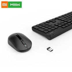 Xiaomi MIIIW bezprzewodowa klawiatura biurowa i mysz zestaw 104 klawiszy 2.4GHz Windows PC MAC kompatybilna przenośna klawiatura USB do użytku biurowego