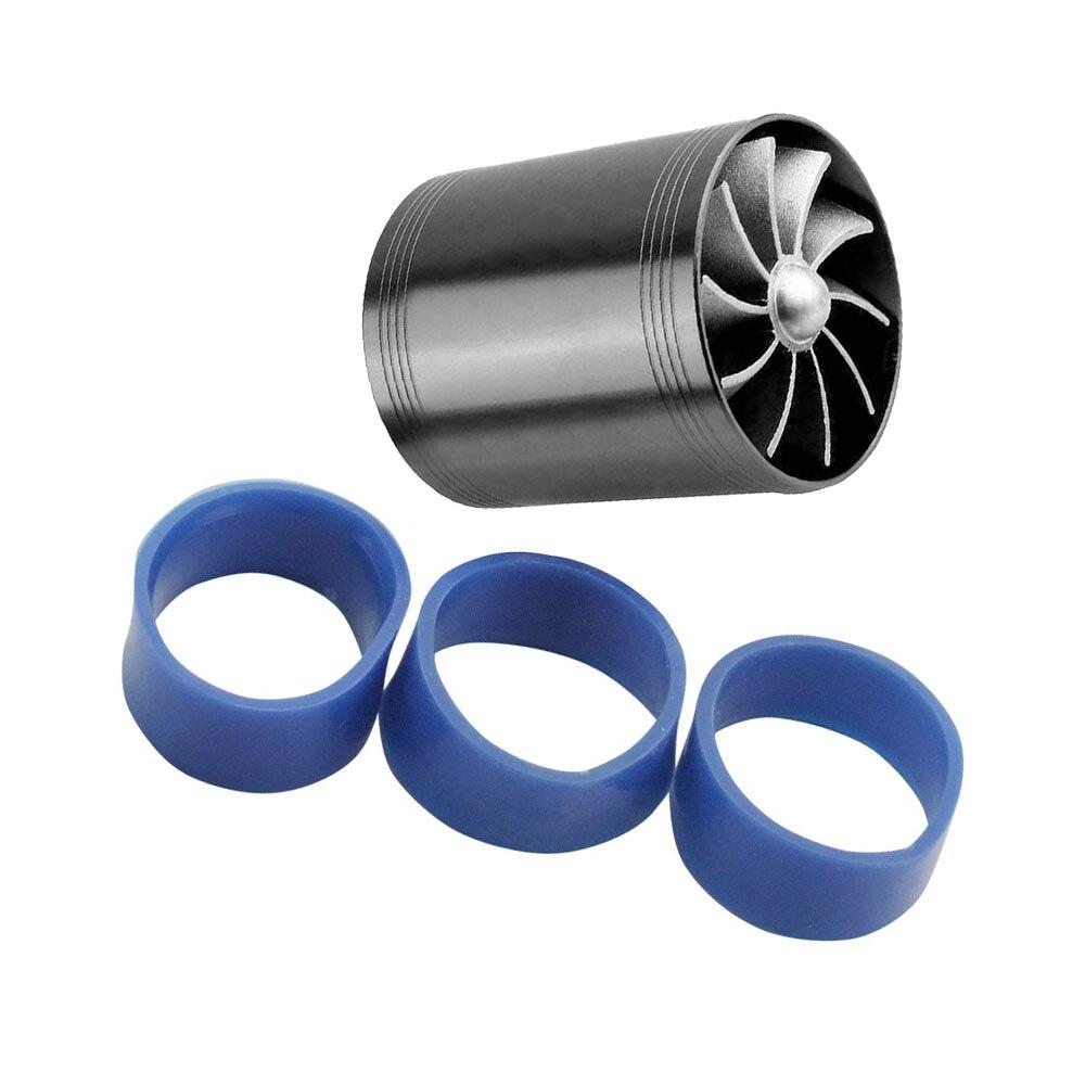 Car Air Intake Turbine Auto Exterior Black Engine Dual Fan Fuel Saver Set Air Intake Turbonator
