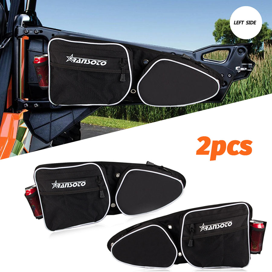2PCS Front Door Storage Bags UTV Bag For Polaris RZR XP 4 1000 Turbo 2014-2019 Passenger & Driver