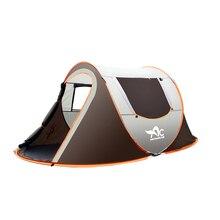 خيمة تخييم كبيرة خارجية أوتوماتيكية بالكامل تتكشف أوتوماتيكيًا خيمة مقاومة للمياه عائلية متعددة الوظائف محمولة مقاومة للرطوبة