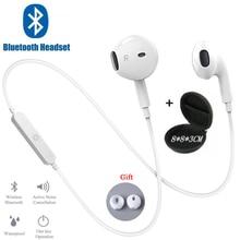 Sport z pałąkiem na kark bezprzewodowe słuchawki muzyka słuchawki douszne zestaw głośnomówiący Bluetooth słuchawki z mikrofonem dla wszystkich telefonów Samsung Huawei
