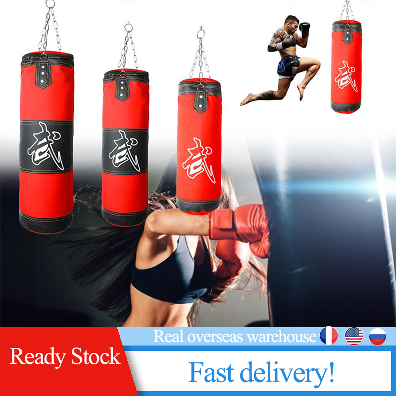 New Empty Boxing Punching Bag Training Fitness Hanging Kick Gym Exercise Sandbag