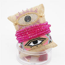 Go2boho Turkish Evil Eye Bracelet MIYUKI For Women Tassel Crystal Jewelry Pulseras Mujer 2019 Handmade Miyuki joyeria