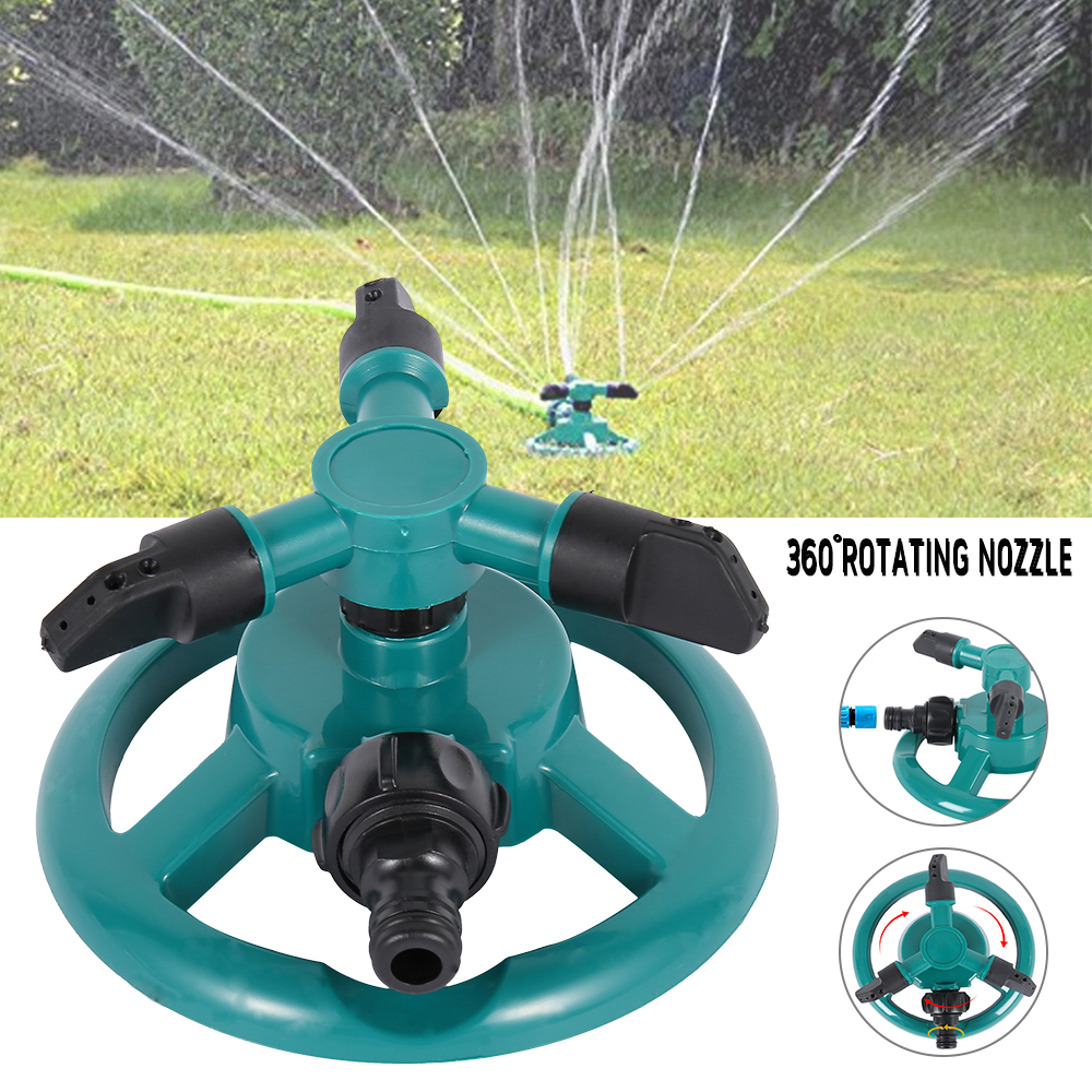 Garden Irrigation Sprinkler Rotating Three-pronged Automatic Irrigation Lawn Circular Sprinkler Rotating Irrigation System