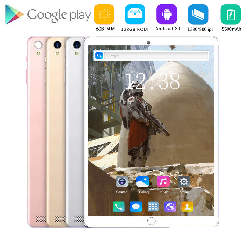 2020 Newest Android 8.1 Octa Core 10.1 Inch Tablet PC 6GB RAM 128GB ROM 5.0 MP WIFI GPS 4G LTE IPS 1920*1200 Screen  Tablet Pc