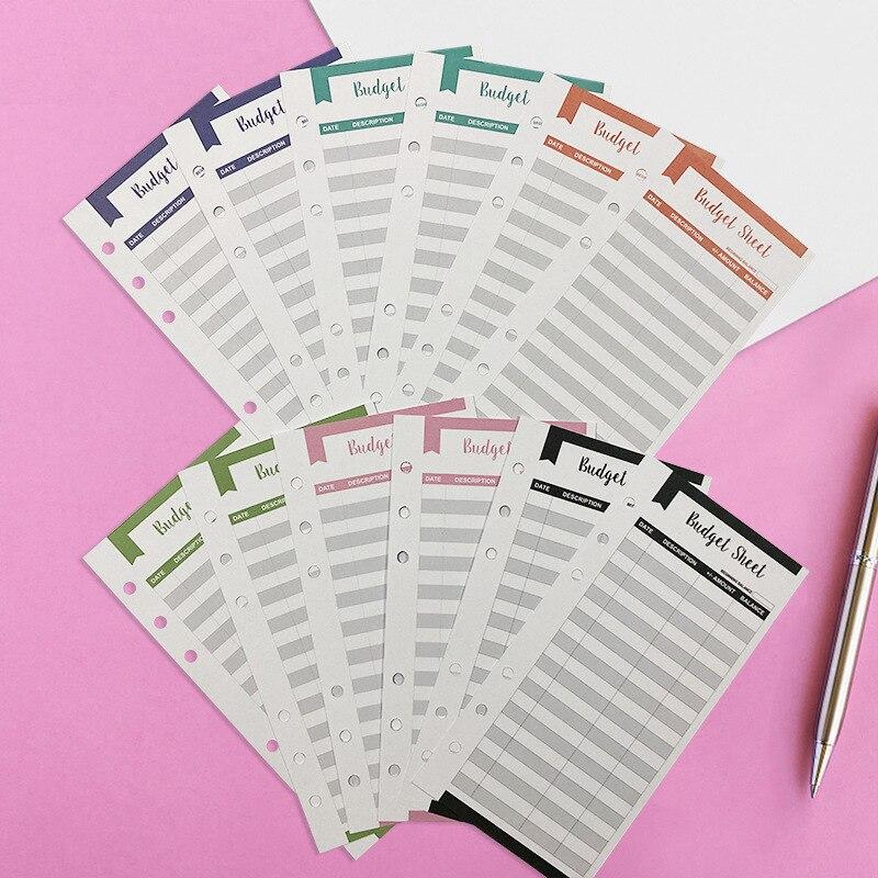 12 бюджет листов за счет трекер подходит бюджет конверты наличных скоросшиватель для конвертов бюджета бумажник для личных и Бизнес Примене...