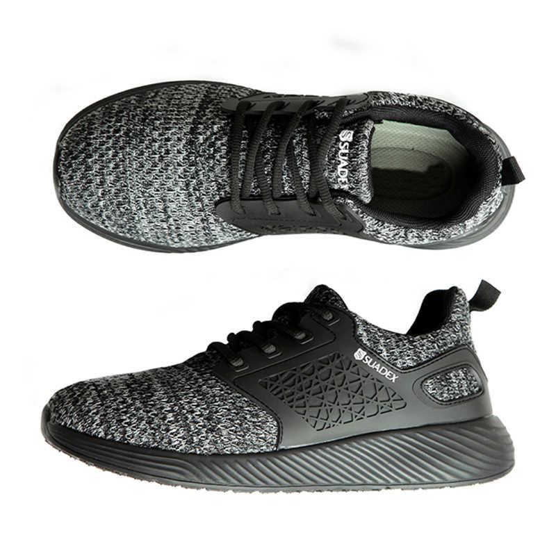 Jackshibo erkek güvenlik iş ayakkabısı botları erkek sonbahar inşaat iş ayakkabısı çelik ayak yıkılmaz İş güvenliği botları Sneakers