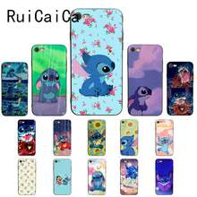RuiCaiCa Cute Ohana Stitch Printing Drawing Phone Case For iPhone 8 7 6 6S Plus X XS MAX 5 5S SE XR Cellphones 11 11pro 11promax(China)