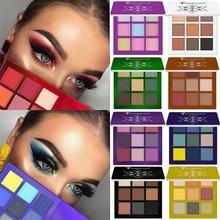 Fashion 9 Colors Shimmer Glitter Eye Shadow Powder Matte Makeup Pallete Pigmented Eyeshadow Highlighter Cosmetics