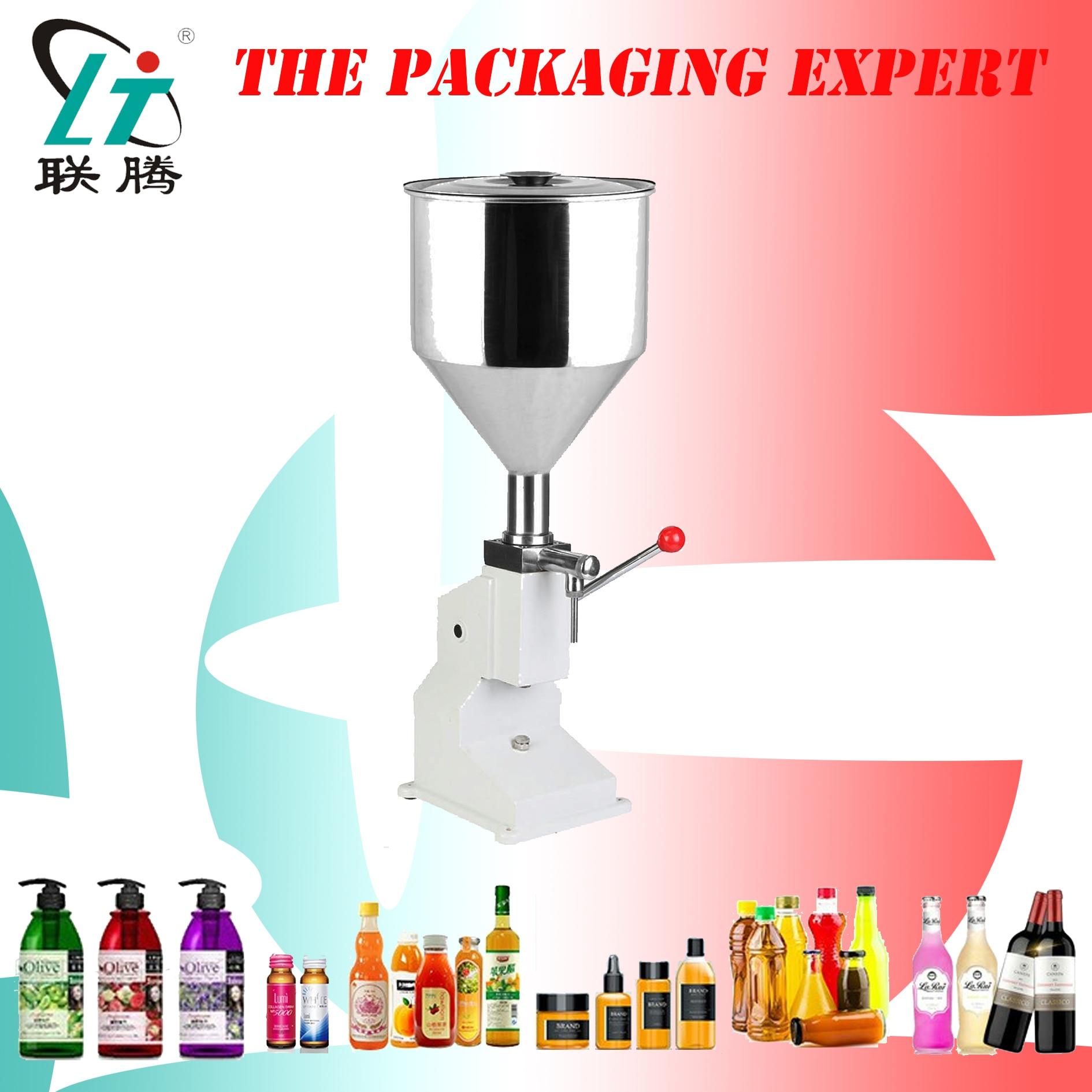 Manual Filling Machine Paste Filler For Shampoo Lotion Cream Yoghourt Honey Detergent 50ml Liquid Water Oil Liquor Bottles