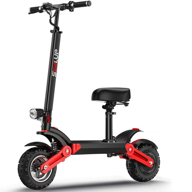 12 pouces mini pli scooter électrique 48V500W haute vitesse moteur hors route escooter suspension vide pneu portée maximale 120-150km