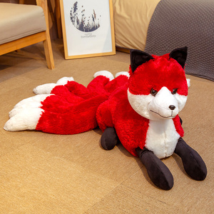 Image 5 - Super Cute Soft White Red Nine Tails Fox Plush Toy Stuffed Animals Nine Tailed Fox Kyuubi Kitsune Dolls Creative Gifts for Girls