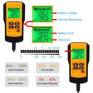 Image 5 - جهاز اختبار بطارية السيارة ، 12 فولت ، رقمي ، CCA ، محلل عمر البطارية ، جهاز اختبار حمل بطارية السيارة ، أداة تشخيص لجل الفيضانات AGM