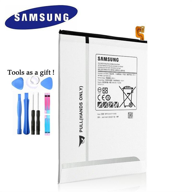 100% оригинальный сменный аккумулятор для планшета Samsung Galaxy Tab S2 8,0 T710 T715 SM-T715C 4000 мАч Akku Быстрая доставка
