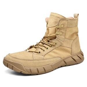 Image 5 - 2019 Ultralight Mannen Leger Laarzen Militaire Schoenen Combat Tactical Enkellaarsjes Voor Mannen Desert/Jungle Laarzen Outdoor Schoenen Maat 39 46