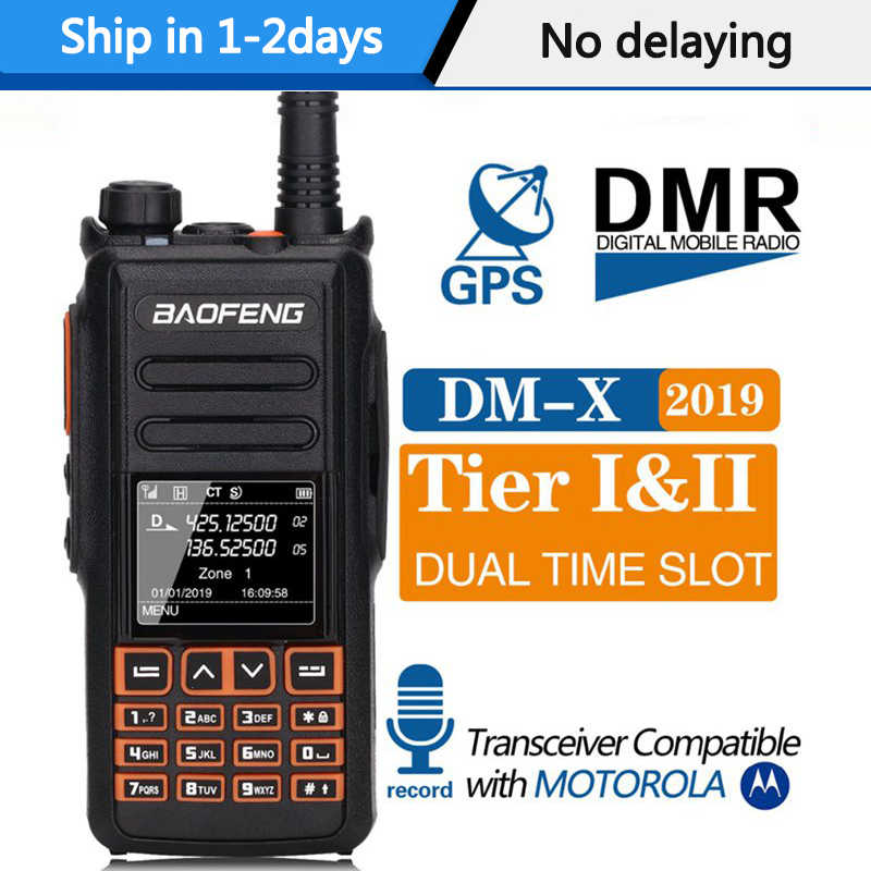 Baofeng DM-X Digitale Walkie Talkie GPS Rekord Tier 1 & 2 Dual Zeit Slot DMR radio ham Digital/Analog up von DM-1801 DM-1701 1702
