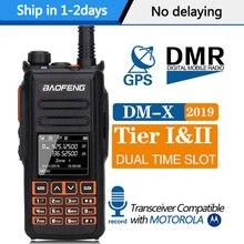 Baofeng DM X 디지털 무전기 발성 GPS 기록 계층 1 & 2 듀얼 타임 슬롯 DMR 라디오 햄 디지털/아날로그 최대 DM 1801 DM 1701 1702