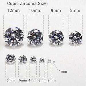 1,0-12,0 мм класс AAAAA, белый цвет, искусственный камень, круглый вырез, цирконий, камень для ювелирных изделий, одежды, самодельные Украшения, драгоценный камень