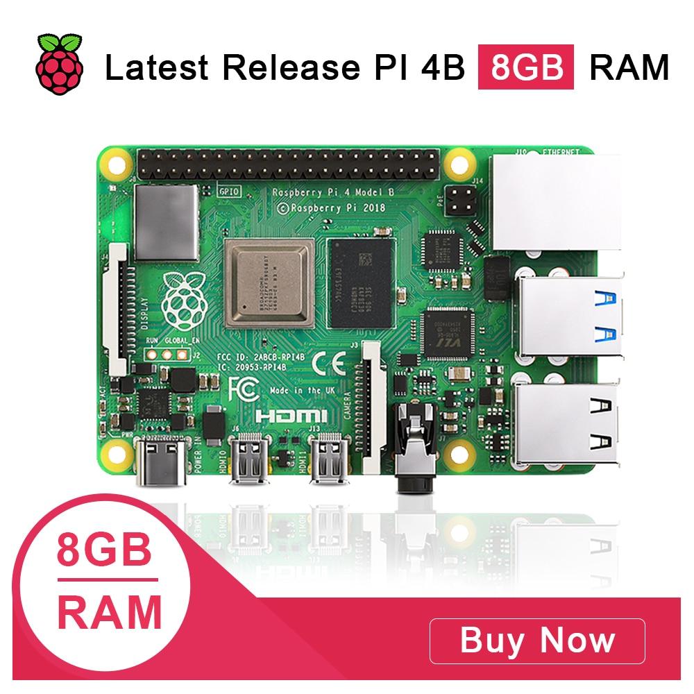 Mais recente raspberry pi 4 modelo b 8gb ram raspberry pi 4 1.2 versão bcm2711 quad core Cortex-A72 braço v8 1.5ghz