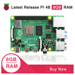 Latest Raspberry Pi 4 Model B 8GB RAM Raspberry Pi 4 1.2 version BCM2711 Quad core Cortex-A72 ARM v8 1.5GHz