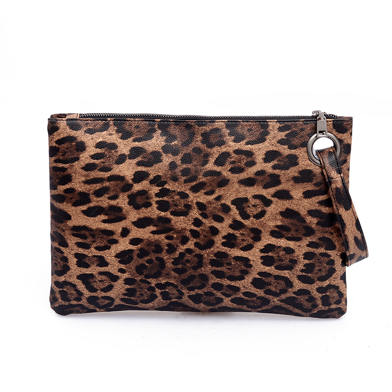 Casual Bags For Women 2020 Animal Print Leopard Clutch Female Fashion Design Leather Wallet Messenger Bag Ladies Elegant Handbag
