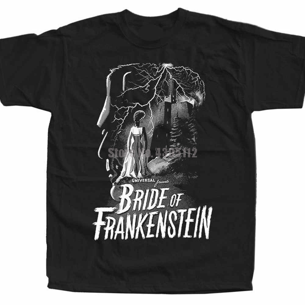 The Bride Of Frankenstein Movie Poster Unisex Ahegao T-Shirt Branded Tshirt Carnival T-Shirt Clothes Tshirts Sqsnyl image
