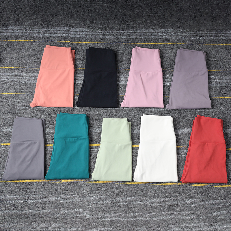 SOISOU New Yoga Pants Women Leggings For Fitness Nylon High Waist Long Pants Women Hip Push UP Tights Women Gym Clothing 4