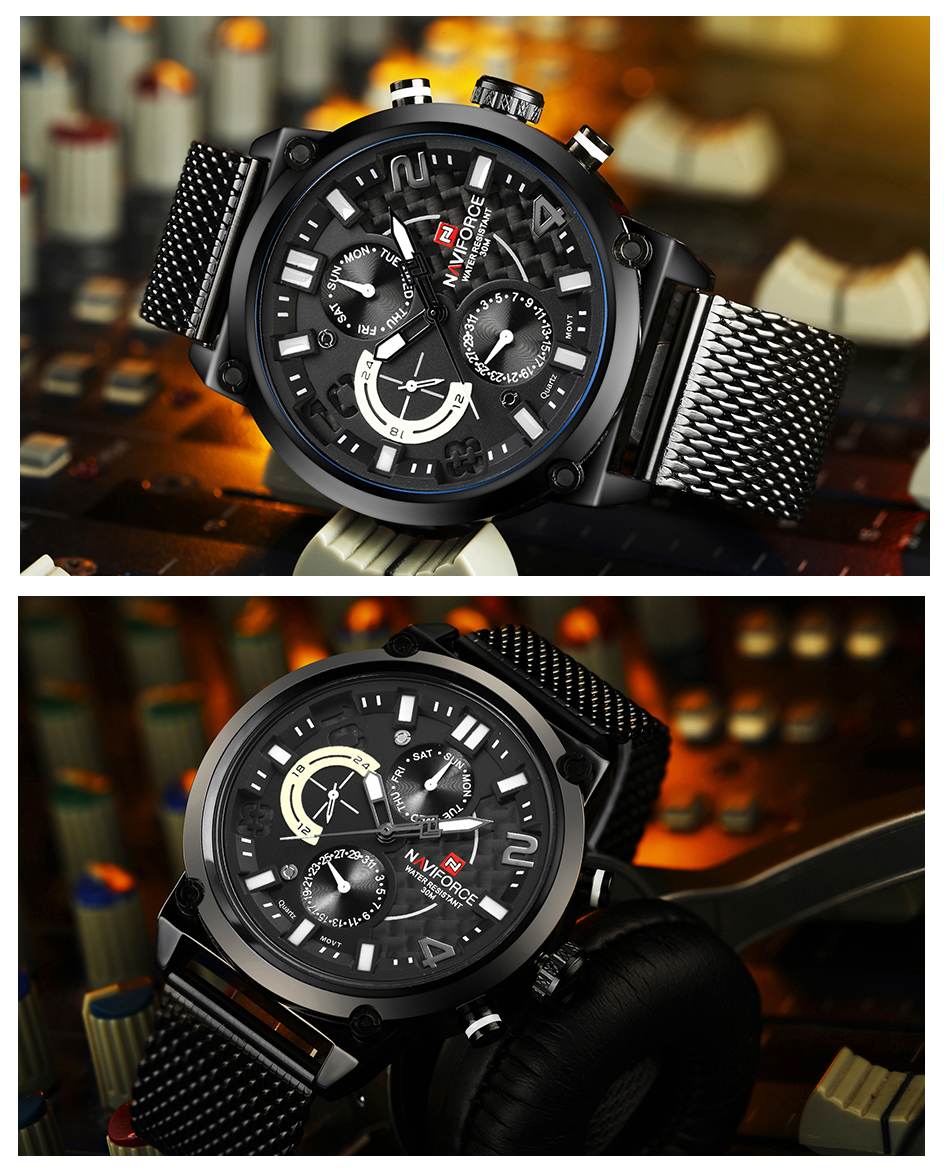 NAVIFORCE NF9068S Men's Waterproof Sport Watch H158ed5eb93e743fba78dfa2c0496ed81Q