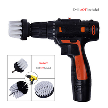 Power Scrubber Brush Set For Bathroom Drill Cleaning Cordless Attachment Kit Scrub White