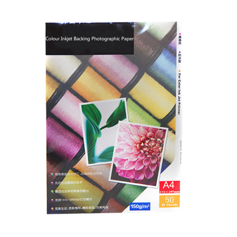 Купить с кэшбэком 135g 150g A3 A4 glossy 100sheets A5 200sheets Self Adhesive magnetic Inkjet Printing with back glue sticker photo printer paper