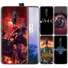 Business Pattern Phone Black Rubber Soft Silicone Case Bag Cover for 1+ Oneplus 6T Cases 6 7 Pro 5G Fundas league of legends lol(China)
