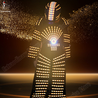 Led Robot Suit Costume Light Programming Controller Sets Helmet Halloween Cosplay LED Multicolor Dance Party Performance DJ