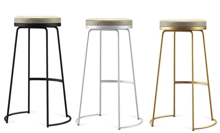 New Nordic Bar Chair Simple Modern   European High  Reception  Stool Leisure