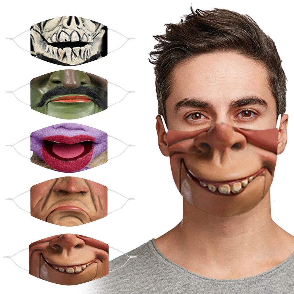 Mignon drôle Masque femmes hommes 3d concepteur lavable visage Masque Maseczka Mascherina Masker Maski décoration