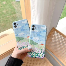 Korean style art landscape oil painting phone case for