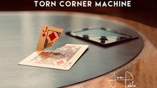 Torn Corner Machine (TCM) by Juan Pablo Torn Card Gimmick Card Magic Tricks Props Illusions Close up Restore Magician Deck