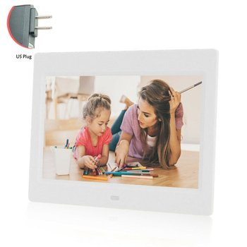 7 Inch Led Digital Photo Frame Plastic And Metal Remote Control Mp3 Mp4 Player Electronic Clock Album