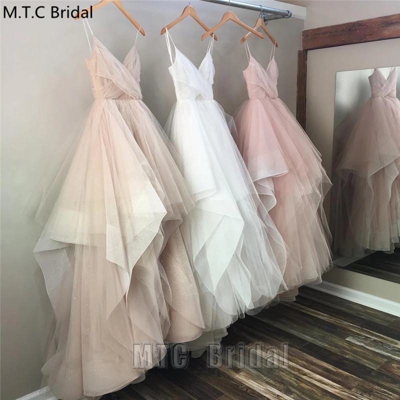 Long White Sexy Tulle Evening Dress Spaghetti Straps Sweetheart Plus Size Girl Graduation Prom Gowns Robe De Soiree Formal Dress