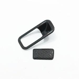 Image 4 - Für Hyundai Kona Encino 2018 2019 ABS Carbon Fibre Zubehör Auto Copilot handschuh Box griff bowl Abdeckung Trim Styling 2 stücke