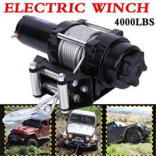 For ATV Trailer Truck Rescue or Self-help 4000LB Car Electric Winch Kit Wire Rope With Wireless Remote Control
