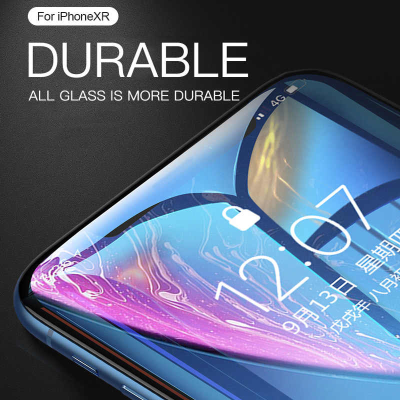 زجاج واقي 9D على آيفون X XS 11 برو ماكس XR 6 7 6s 8 plus واقي للشاشة آيفون 7 6S 8 الزجاج المقسى
