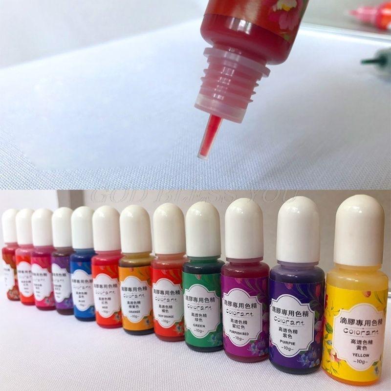 13 Colors Epoxy UV Resin Coloring Dye Liquid Epoxy Pigment Resin Colorant Fading Resistance10ml Translucent Make Jewelry Pigment 3