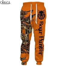 Boar-Trousers Sweatpants Jogging-Pants Animal Streetwear-Style Hunting Harajuku Men Women
